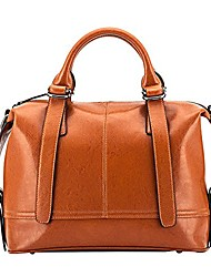 cheap -women's quilted oversize genuine leather shoulder handbags crossbody bags satchel purses with metal chain strap and top zipper