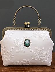 cheap -Women's Bags Polyester Top Handle Bag Lace Zipper Floral Print Date 2021 Handbags White Black Sky Blue Gray