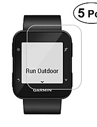 cheap -garmin forerunner 35 tempered glass, 5 pack 9h hardness screen protector full coverage 0.26mm 2.5d hd screen protector protective film for garmin forerunner 35