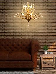 cheap -7-Light 62 cm Crystal / Mini Style Pendant Light Metal Crystal Brass Modern Contemporary 110-120V / 220-240V