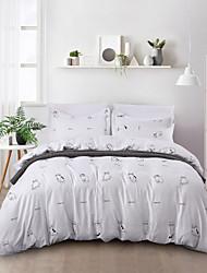 cheap -Kawaii Series White Pet Cat Duvet Cover Set Lightweight Reversible Soft 3Pcs Set(1 Duvet Cover  2 Pillow Shams)King/Queen
