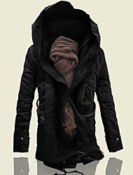 cheap -mens parka jacket winter hooded military coats down alternative padded outwear thicken lined warm jackets black