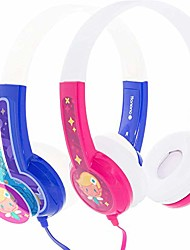 cheap -buddyphones discover, volume-limiting kids headphones, comfortable and durable, built-in audio sharing cable, compatible with fire, ipad, iphone, and android devices, blue and pink
