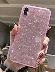 cheap -iphone xr glitter case, xr pink cases with air cushion sparkle bling slim fit soft cute tpu silicone case cover compatible for iphone xr 6.1 inch-pink