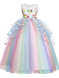 cheap -Kid's Child's Little Kids Child Dress Mixed Color Pink White Dresses