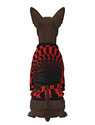 cheap -Dog Shirt / T-Shirt Graphic Optical Illusion 3D Print Exaggerated Casual / Daily Dog Clothes Puppy Clothes Dog Outfits Breathable Red Costume for Girl and Boy Dog Polyster S M L XL