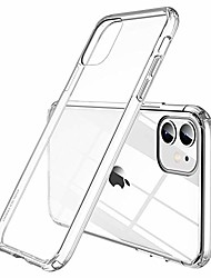 "cheap -iphone 11 case 6.1"" [anti-yellow & anti-scratch] ultra slim clear shockproof iphone 11 case, protective durable tpu case anti-bump & hard cover case - transparent"