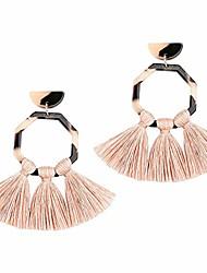 cheap -hoop tassel earrings lightweight acrylic statement dangle tortoise shell fringe earrings for women …