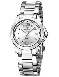 cheap -women's stainless steel quartz watches fashion waterproof wristwatch for lady simple analog dress watch girls