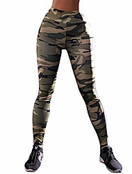 cheap -high waist out running yoga pants tummy control workout gym 4 way stretch yoga leggings trouser green