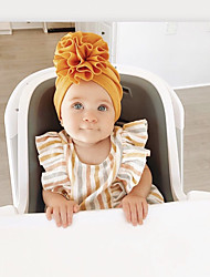 cheap -1pcs Infant Unisex Active Floral / Solid Colored Flower Hats & Caps White / Black / Blue One-Size