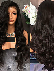 cheap -Synthetic Wig Curly Wavy Middle Part Wig Long Black Synthetic Hair 26 inch Women's Fashionable Design Party Comfortable Black