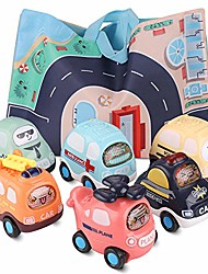 cheap -toy pull back cars, baby toy push car kids toy set 6 cars with play mat (storage bag), 1 2 3 year old early educational toys push and go cars for children boys girls kids gift