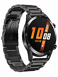 cheap -quick release flash drilling stainless steel watch bands for huawei watch gt2 46mm, universal replacement adjustable sport strap for huawei watch gt2 women men smartwatch (black)