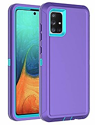 cheap -for samsung galaxy a51 5g case hybrid case heavy duty shockproof protective tough 3 in 1 rugged case for samsung galaxy a51 5g 2020 (purple blue)