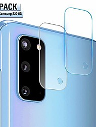 cheap -soluo compatible galaxy s20 camera lens protectors 6.9 inch, ultra thin tempered glass film screen protector for samsung galaxy s20, [2 pack]