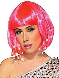 cheap -women's light up costume wig, hot pink, os