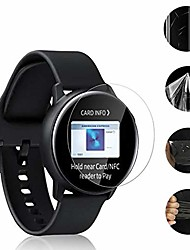 cheap -[2-pack] samsung galaxy watch active screen protector, premium hydrogel transparent film protector [no bubble] [explosion-proof] for samsung galaxy watch active 2019