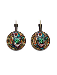 cheap -Women's Earrings Owl Fashion Vintage European Earrings Jewelry Bronze / Silver For Prom Vacation 1 Pair