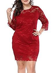 cheap -womens plus size lace mini dress wedding dresses off shoulder vintage floral for cocktail party gown dress wine red