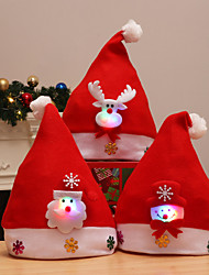 cheap -Merry Christmas Kid Led Light Up Cap Santa Claus Snowman Elk Children Hat Xmas Gift New Year Gift 3pcs