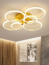 cheap -2/3/5/6 Heads LED Ceiling Light Circle Nordic Gold Acrylic Exterior Lighting Living Room Ceiling Lamp Simple Modern Art ceiling Light Luxury LED Bedroom Light AC220 V