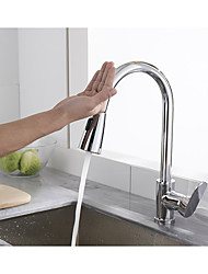 cheap -Kitchen faucet - Single Handle One Hole Chrome Pull-out / Pull-down / Tall / High Arc Other Contemporary Kitchen Taps