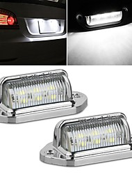 cheap -2Pcs 6 LED Number License Plate Light Tag Light LED Numbet Plate Lamp For Car Truck Trailer Interior Step Lights White 12V-24V