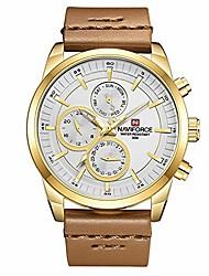 cheap -luxury waterproof 24 hour date quartz fashion leather sport wrist watch