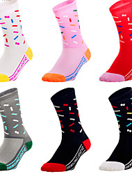 cheap -Compression Socks Women's Men's Bike / Cycling Soft Stretchy Sweat wicking 1 Pair Graphic Nylon Black / Red White Red One-Size / Athleisure