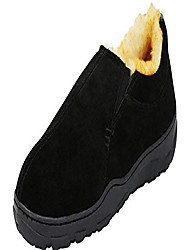 cheap -slippers international men's genuine suede lined conway slipper,10 d(m) us,black