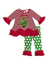 cheap -christmas tree legging set (2t) red green