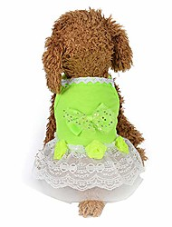 cheap -pet clothes, ooeoo dog cat bow tutu dress lace skirt pet puppy dog princess costume apparel clothes(green,xs)