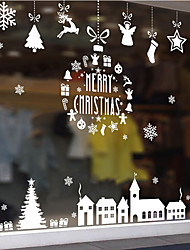cheap -Christmas Toys Christmas Window Clings Window Stickers Wall Decals Merry Christmas Waterproof Removable Party Favor PVC 6 pcs Kids Adults 12*8cm Christmas Party Favors Supplies