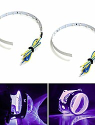 cheap -bright purple 15-smd high power led demon eye halo ring kit compatible with car motorcycle headlight projectors or aftermarket 2.5 2.8 3.0 inch retrofit projector lens