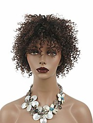 cheap -short jumbo afro african american wigs for women kinky curly brown full wigs 8 inch