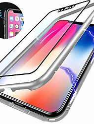 cheap -magnetic case for xiaomi redmi note 6 pro,clear tempered glass back cover [magnets metal bumper frame][support wireless charge] 360°full protection ultra slim case