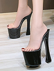 cheap -Women's Dance Shoes Pole Dancing Shoes Heel Thick Heel White Black Purple Loafer Adults'