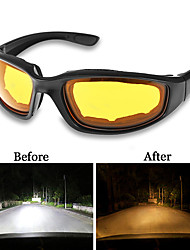 cheap -UV400 Anti-Glare Night Vision Driver Goggles Night Driving Enhanced Light Glasses Fashion Sunglasses Goggles Car Accessries
