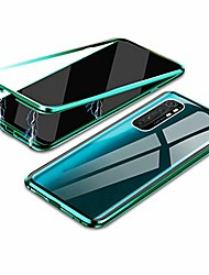 """cheap -mi note 10 lite case, 360° full body magnetic adsorption metal frame flip 9h tempered glass [front and back] full screen coverage protective case cover for xiaomi mi note 10 lite 6.47"""" -green"""