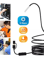 cheap -3.9MM 3-in-1 Android Endoscope Camera IP67 Waterproof Snake Camera with 6 Led Lights