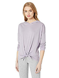 cheap -pima cotton all about it tied hoodie, wild wisteria, x-small
