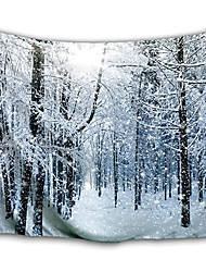 cheap -Wall Tapestry Art Decor Blanket Curtain Picnic Tablecloth Hanging Home Bedroom Living Room Dorm Decoration White Forest Polyester Snow Views
