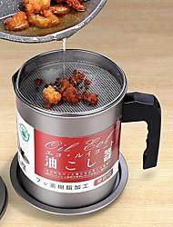 cheap -1.4L Japanese Oil Pot Stainless Steel Filter Net Household With Cap Oil Bottle Kitchen Oil Storage God Vessel Pig Oil Residue Oil