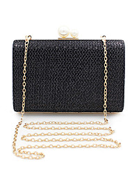 cheap -Women's Bags Polyester Alloy Evening Bag Pearls Sequin Sequin Pearl Wedding Bags Wedding Party Black