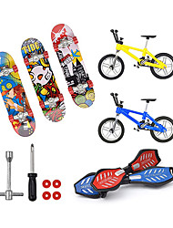 cheap -13 pcs Finger skateboards Mini fingerboards Finger bikes Finger Toys Plastics Alloy Office Desk Toys with Replacement Wheels and Tools Party Favors Kid's Adults All Party Favors  for Kid's Gifts