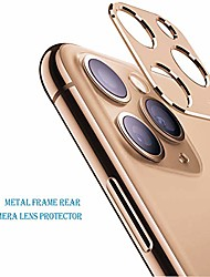 "cheap -compatible for iphone 11pro /11 pro max 6.5"" back camera cover aluminum alloy ring case,(rose gold)"