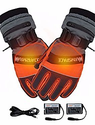 cheap -usb rechargeable heated gloves, winter hand warmer electric thermal gloves waterproof heated gloves battery powered for motorcycle ski gloves,l