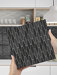 cheap -Imitation Epoxy Tile Sticker Black Grey Tile Wall Sticker House Renovation DIY Self-adhesive PVC Wallpaper Painting Kitchen Waterproof and Oilproof Wall Sticker