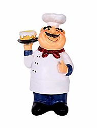 cheap -holding cake resin figurines decorative american chef statue for counter restaurant cafe country cottage tabletop kitchen decorations